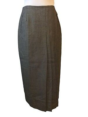 Austin Reed Wool Skirt Size 4 Pleated Front Pockets Ebay