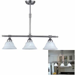 Brushed Nickel Kitchen Island Pendant Light Fixture Dining Globe - Brushed nickel kitchen light fixtures