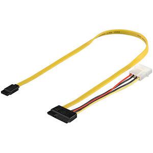 SATA-Festplatten-Anschlusskabel-Datensignal-Stromadapter-Laenge-50cm