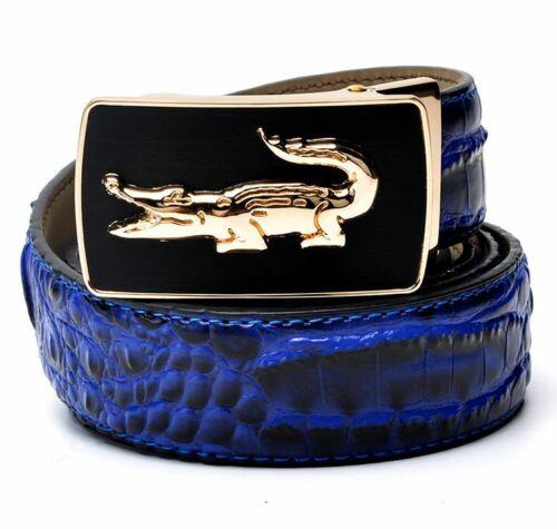 Men Crocodile Belt Luxury Alligator Automatic Buckle Without Buckle Novelty