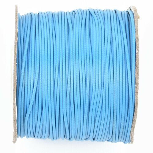 0.8mm cor0180 100 yards TURQUOISE BLUE Braided Nylon Jewelry Cord