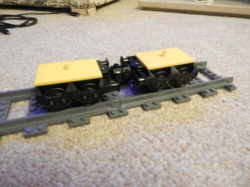 LEGO Train Court Train Fantôme//BOGIE Paire pour 60051 aussi 60052 60098 7939 2