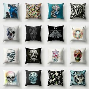 Skull-Cushion-18-039-039-Cover-Throw-Pillow-Polyester-Sofa-Home-Case-Decor-Waist