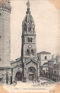 LYON-Antiguo-Postal-SANTUARIO-Fourviere