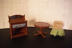 Lot-Of-Fisher-Price-Loving-Family-Dollhouse-Dinning-Room-Furniture-Accessories
