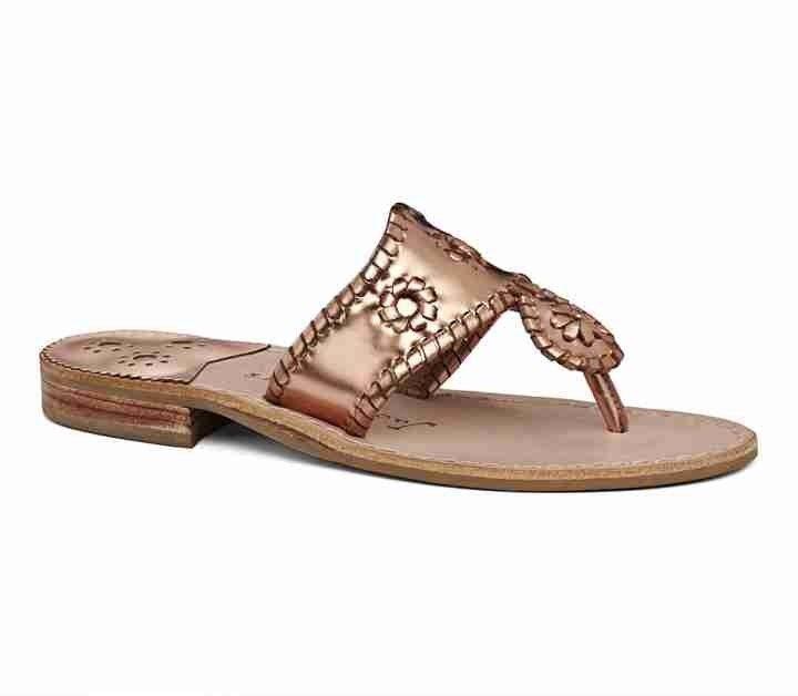 Donna    Jack Rogers Navajo Sandals Copper rosa oro Dimensione 8.5 ab355a