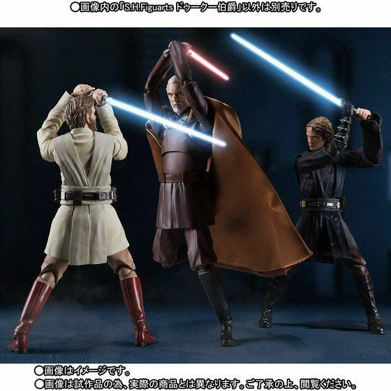 Bandai S.H.Figuarts Star Wars Anakin & Obi-Wan vs Count Dooku set Japan version
