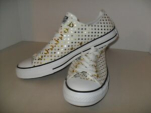 86c06f95e33ef5 CONVERSE ALL STAR CHUCK TAYLOR OX WHITE GOLD MEN 10   WOMEN 12 SHOES ...