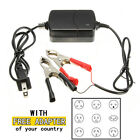 12V Lead Acid Motorcycle Car ATV Portable Smart Compact Battery Charging Charger