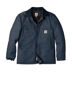 Men's Carhartt Duck Traditional Winter Jacket Arctic Weight Size Medium Navy