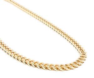 301d17a6d60ea Details about Mens 10mm 14k Gold Plated Heavy Thick Cut Hip Hop 30