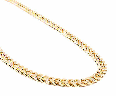 "Mens 10mm 14k Gold Plated Heavy Thick Cut Hip Hop 30"" Cuban Chain Necklace"