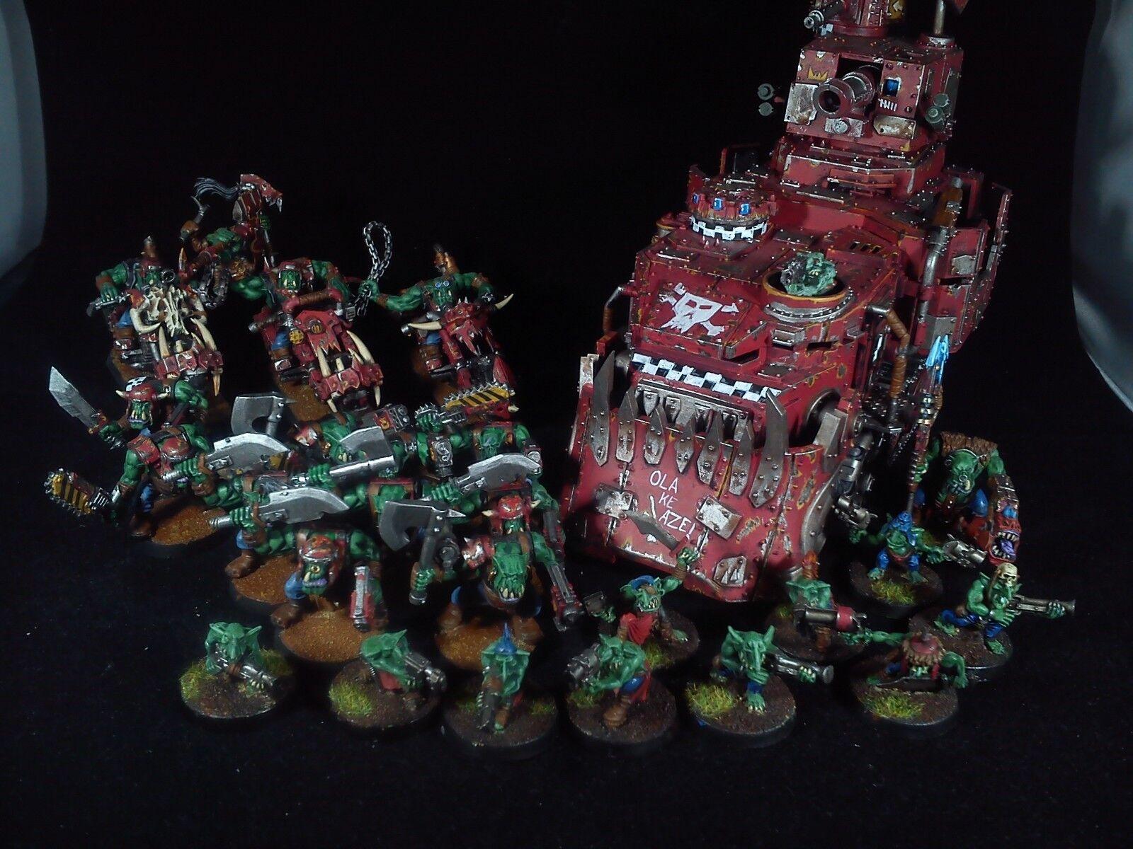 Ork army 5 warhammer 40k PAINTED