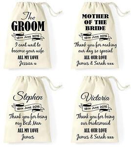 Personalised Wedding Day Gift Bag Groom Bride Best Man Bridesmaid
