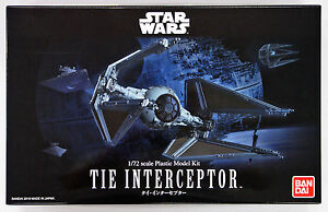 2017 Bandai Star Wars corbata interceptor 1/72 escala