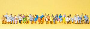 """Preiser 14416 HO Figuren """"Sitzende Personen. 48 Miniaturen""""  #NEU in OVP##"""