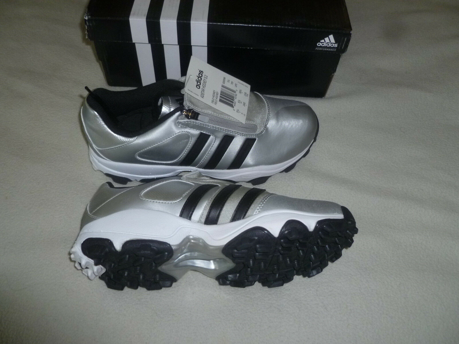 09446368a adidas Adistar Hockey S.2 N Womans Field Hockey Shoes Silver Black Golf 10  for sale online