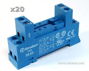 20-unidades-95-65-Zocalo-para-montaje-DIN-de-reles-Serie-40-51-40-52-40-61