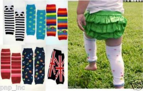 Baby Toddler Kids Girl Winter Leg Warmer Cotton Cute Rainbow Stripes Socks