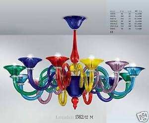 Murano chandelier chandelier venice multicoloured 12 rit ebay image is loading murano chandelier chandelier venice multicoloured 12 rit aloadofball Gallery