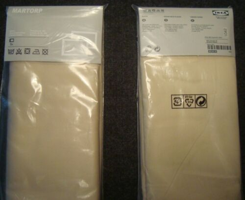 IKEA MARTORP Pillowcases Beige pack of 2 NEW 100 /% Cotton 400TC Pillow Cases NIP
