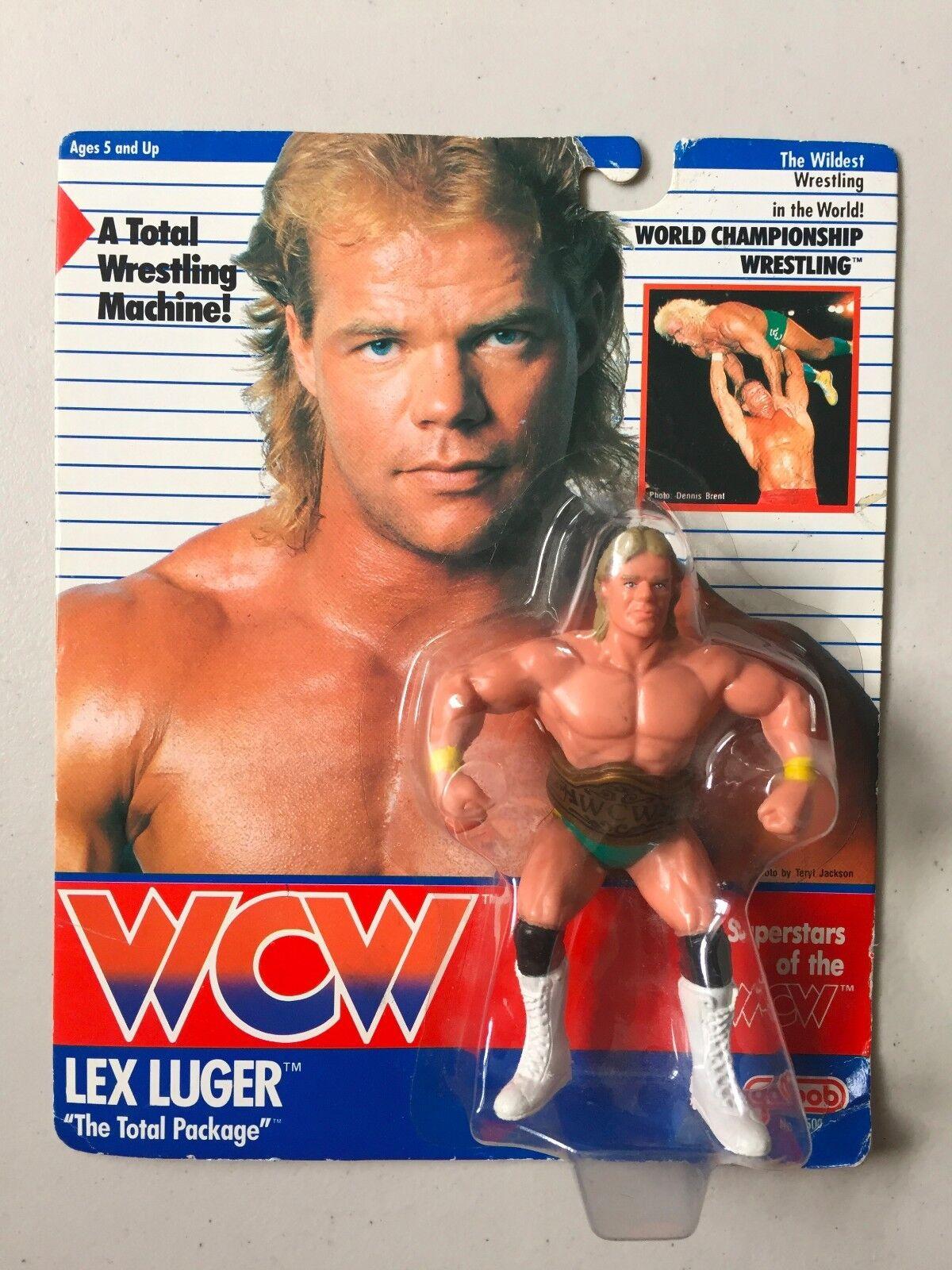 WCW GALOOB UK esclusivo Lex Luger Wrestling cifra MOC WWF WWE NWA RARE verde