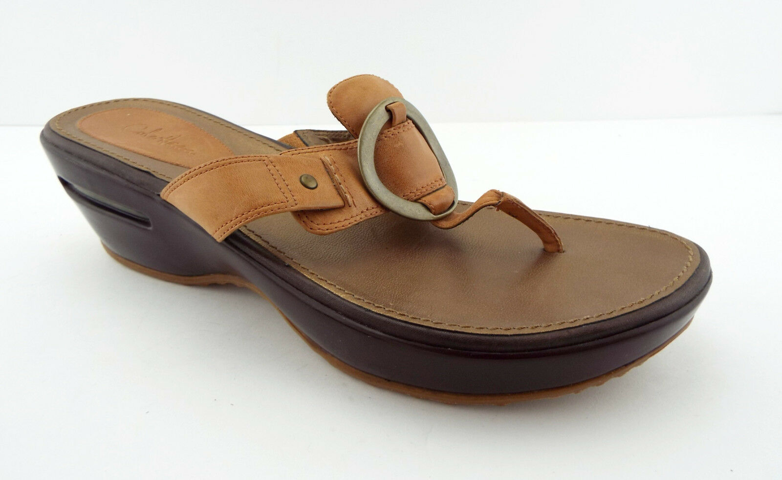 COLE HAAN Air Size 10 Tan Leather Thong Sandals shoes