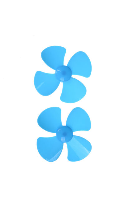 2pcs 80mm Four-blade Propeller Blades Car Model Airplane Fan DIY Accessories、 Ze