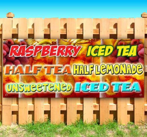 RASPBERRY ICED TEA Advertising Vinyl Banner Flag Sign Many Sizes CARNIVAL FAIR