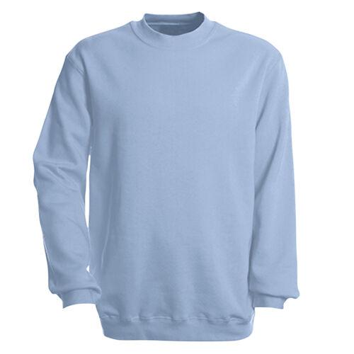 Damen Herren Sweatshirt Sweater S M L Xl Xxl neutral hellblau 41375