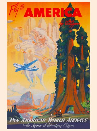 Giant Redwoods California United States of America Travel Poster Advertisement