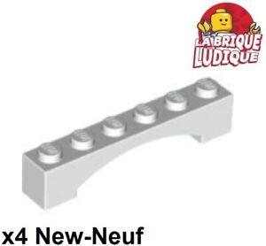 New Neuf Gris Dark Bluish Gray Brick Arch 1x4 Lego 3659-6x Briques Arche