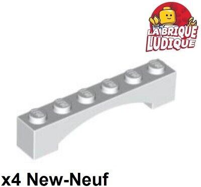 Lego 4x Brique Brick Arche Arch raised 1x6 6x1 blanc//white 92950 NEUF