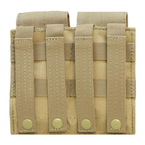 Molle Tactical 7.62 NATO 308 Rifle Double Magazine Mag Pouch Close Flap TAN