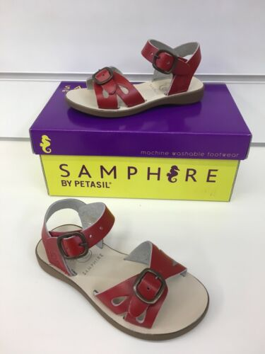 Machine Washable New Season Samphire By Petasil Marella Sandal In Red Leather