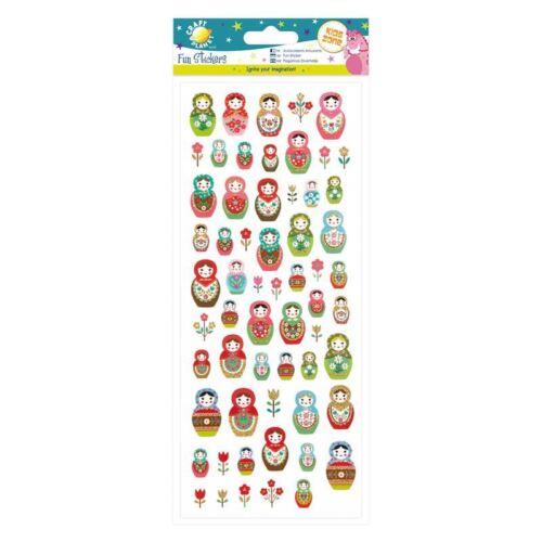 Russisch Puppen für Karten und Handarbeiten Basteln Planet lustig Sticker