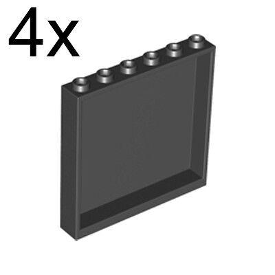 5 NEW LEGO Panel 1 x 6 x 5 Black