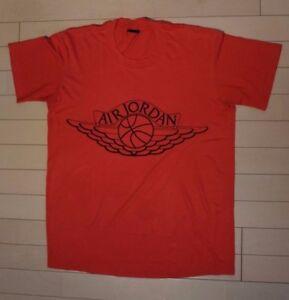 Red Tee 80 1 Nike os Air Vintage Sz Jordan Black Wings L A camiseta v1w8q8