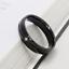 Anello-in-acciaio-Uomo-Donna-Fedina-Fidanzamento-Fascia-Unisex-incisione-nero miniatura 3