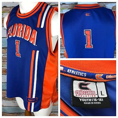 info for 4edb8 69ac5 Florida Gators Basketball NCAA Men's Sewn Colosseum Jersey Youth Large #1 |  eBay