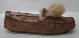 eba26b9de2 UGG Women s Dakota Pom Pom Slipper 1019015 Chestnut Size 9 ...
