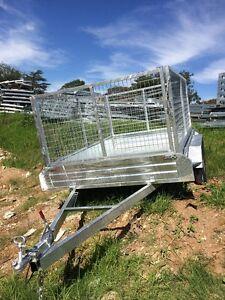 Tandem-Trailer-10x5ft-1000-mesh-cage-GalvanizedBbrand-New