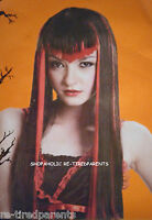 Halloween - Wig – Vampiress – Long – Black & Red – Thick - Adult One Size - Nip