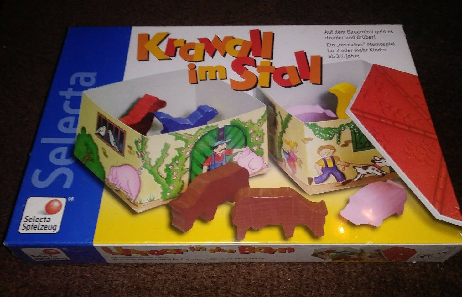 New Krawall Im Stall - Gekrakeel In De Stal Selecta Spielzeug Game From Germany