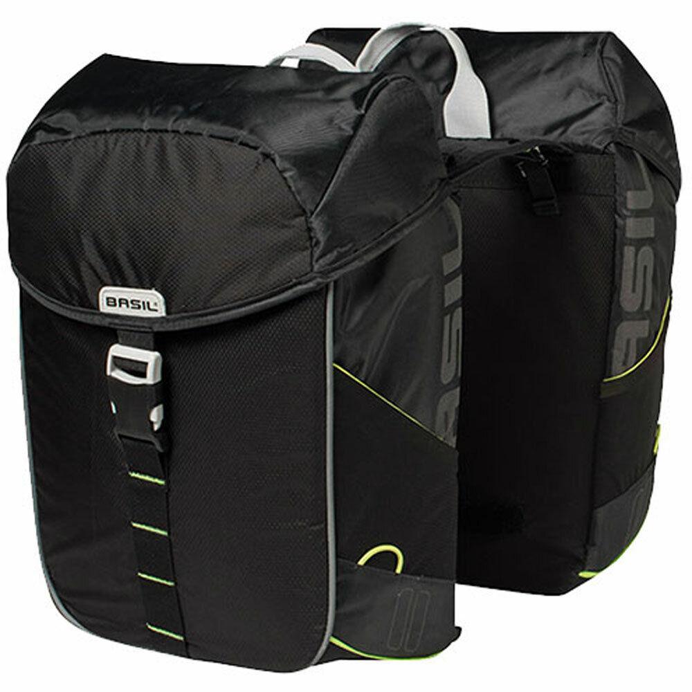 Basil Doppeltasche MILES DOUBLE BA 32L negro lime Fahrrad Tasche