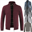 Men-Sweater-Winter-Coat-Warm-Thicken-Zipper-Cardigan-Solid-Casual-Knitwear-China thumbnail 5