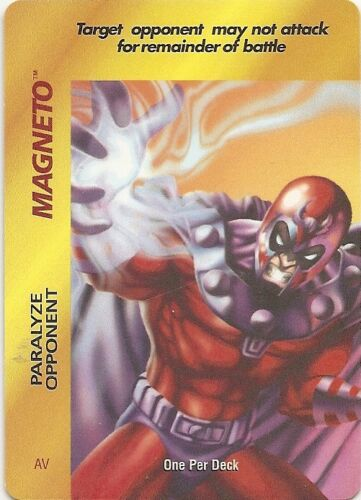 Rare Original OP Marvel OPD x2 OVERPOWER Magneto Paralyze Opponent