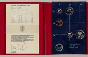 Netherlands 1987 Queen Beatrix official mint coin year set Utrecht FDC