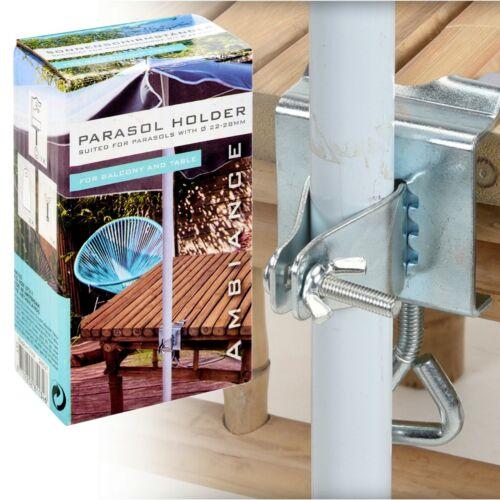 Stainless Steel Metall Sonnenschirm Halter Klemme für Garten Tisch Balkon