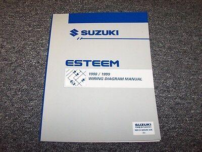 1998 1999 Suzuki Esteem Sedan Original Wiring Diagram Manual Gl 1 6l 1 8l Ebay